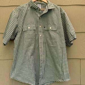Brooks Brothers   Green Gingham Shirt   XXL